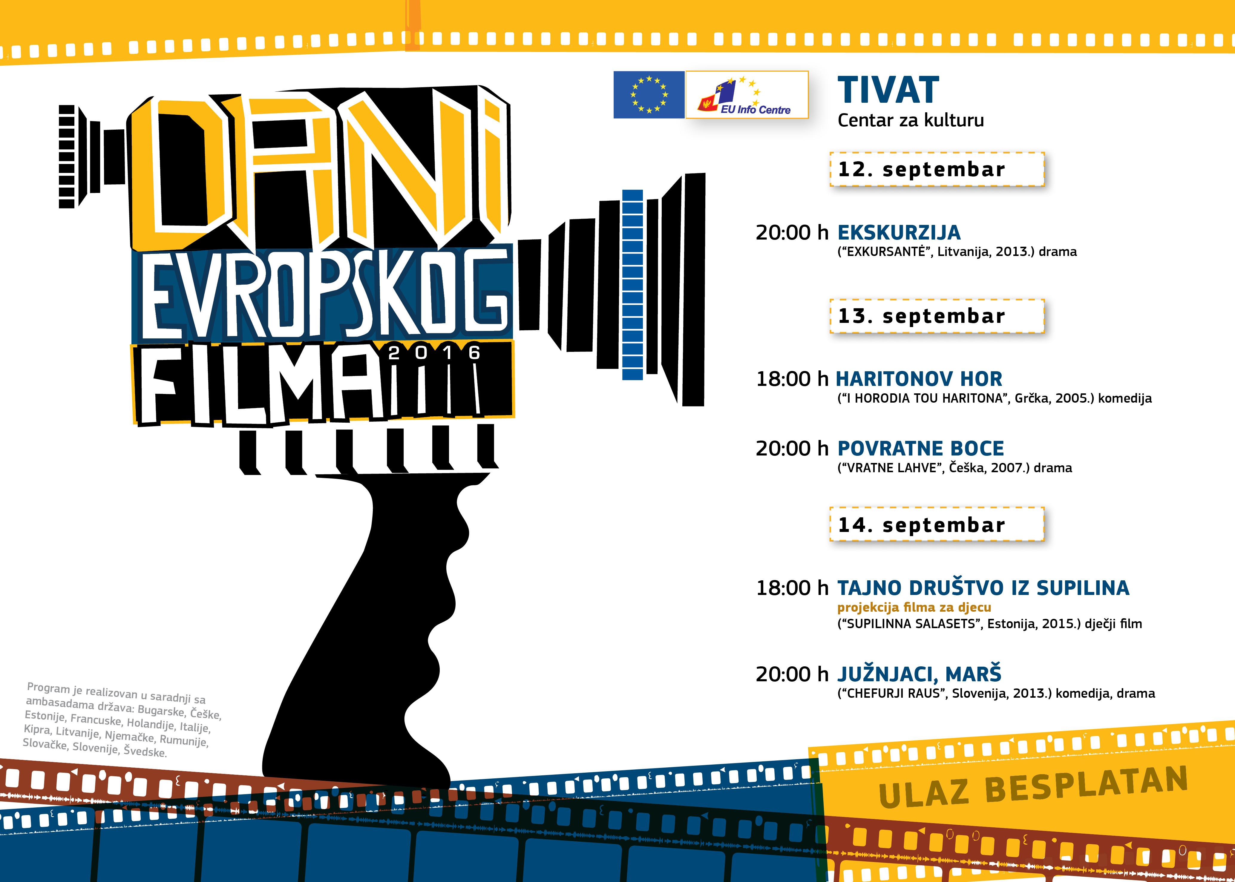 Dani evropskog filma - Tivat za web plakat